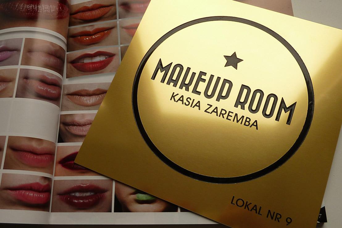 projekt tabliczki dla Kasia Zaremba Makeup Room