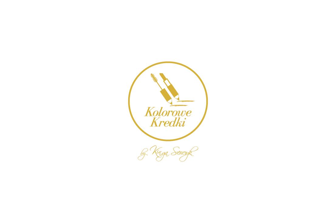 projekt logo wykonany dla Kolorowe Kredki - Kinga Szewczyk makeup artist