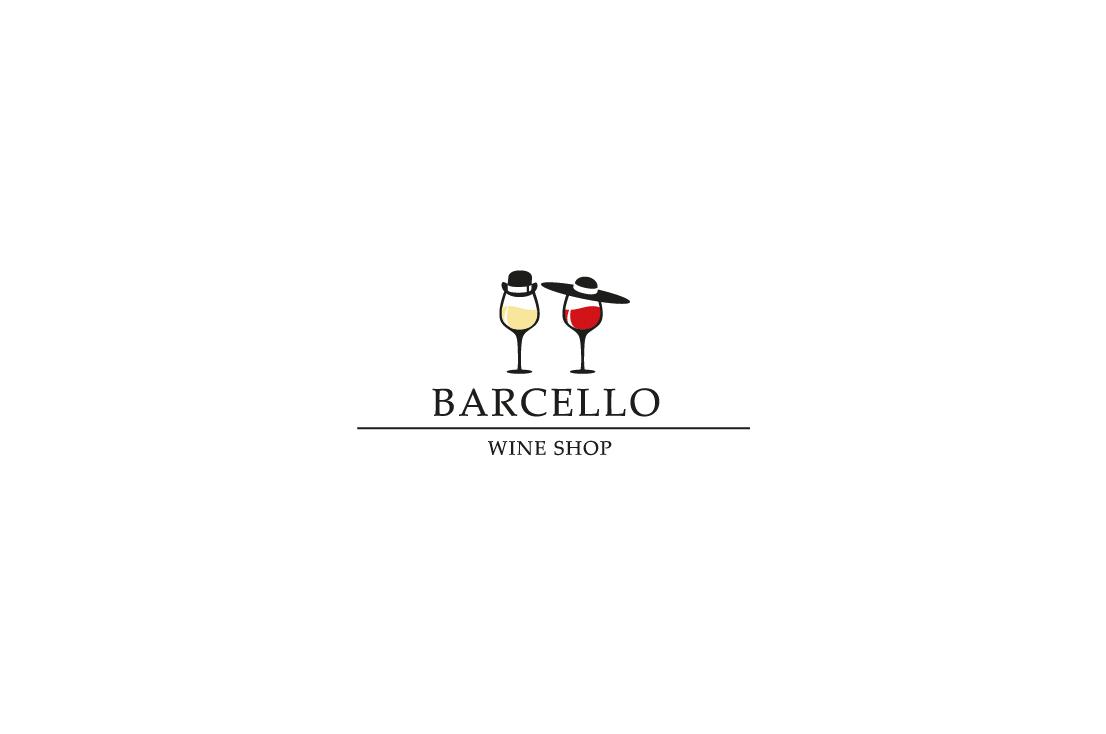 projekt logo dla barcello wine shop sklep z winem