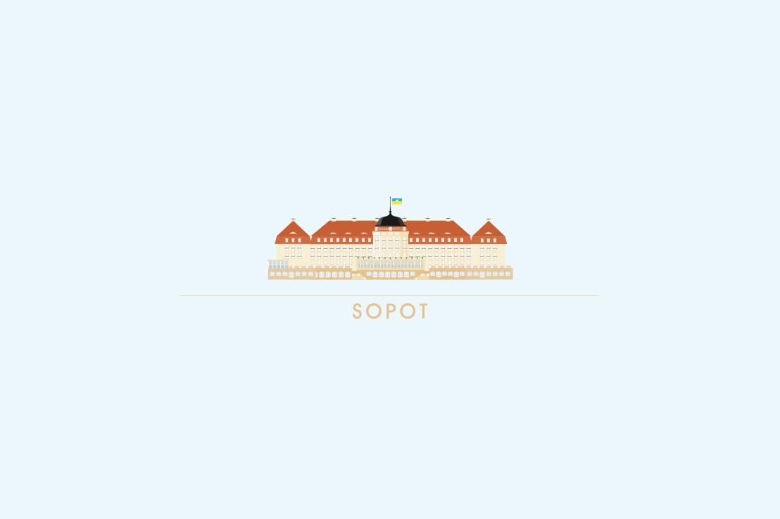 Grand Hotel Sopot vector