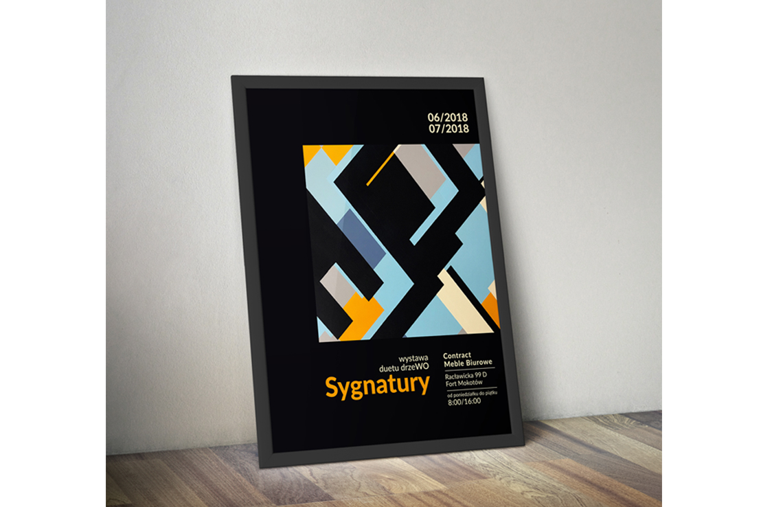 Plakat-wystawa-duetu-drzeWO-Contract-Warszawa-Poster-design