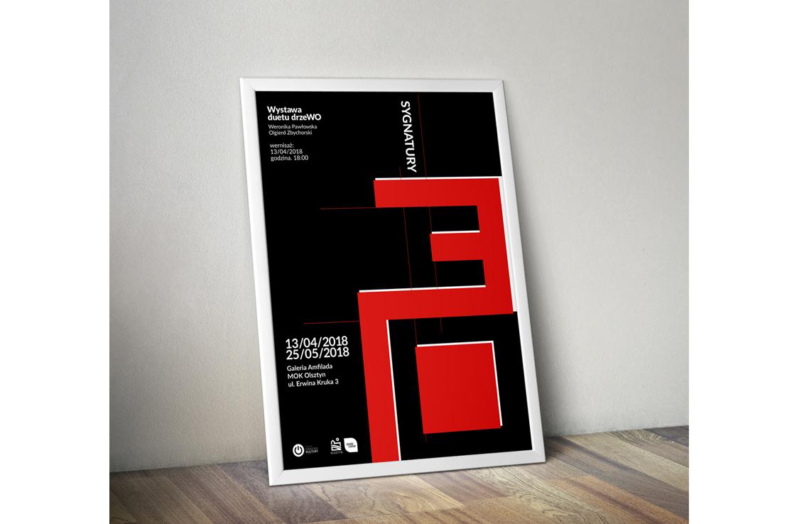 Plakat-wystawa-duetu-drzeWO-Galeria-Amfilada-Olszty-Poster-design
